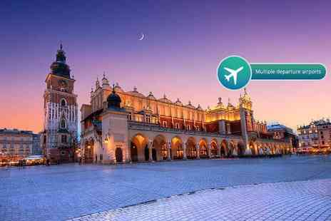 Crystal Travel - Two, three or four night 4 Star Krakow break with flights and breakfast - Save 37%