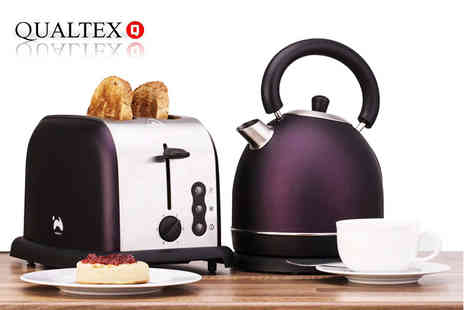 Qualtex - An Ovation toaster and kettle set choose from three colours - Save 64%