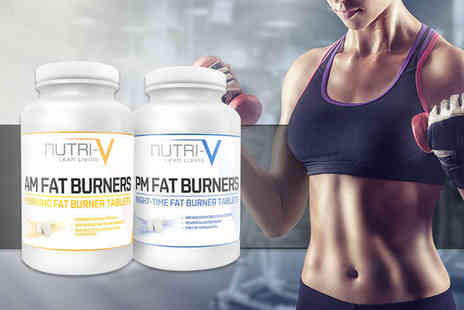 Nutri V - One month supply of AM PM fat burner supplement pills or upgrade to a three month supply - Save 80%