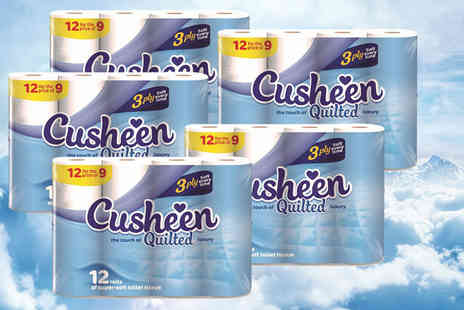Parcel Monsters - 60 super soft Cusheen toilet rolls - Save 48%