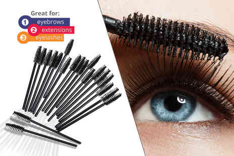 Alvis Fashion - 50 piece disposable mascara wand set - Save 84%