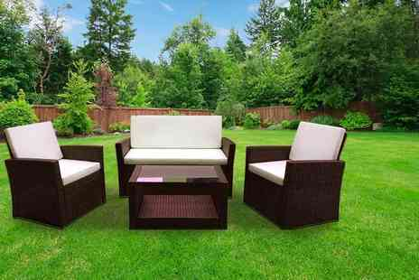 Evre - Four piece Roma rattan garden furniture set with cushions - Save 75%