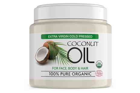 Groupon Goods Global GmbH - One,Two or Three Jars of 100% Pure Organic Coconut Oil - Save 84%