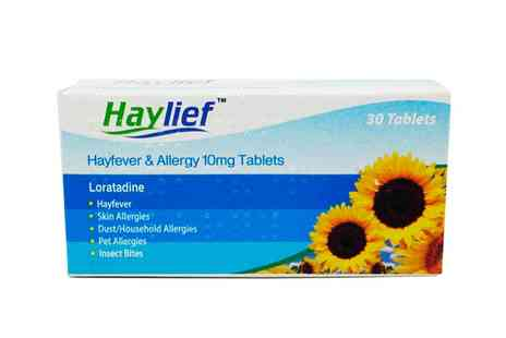 Groupon Goods Global GmbH - One Year Supply Haylief Loratadine Hayfever and Allergy Relief Tablets - Save 70%