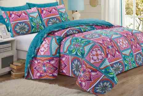 Groupon Goods Global GmbH - Patchwork Mandala Duvet Cover Set - Save 63%