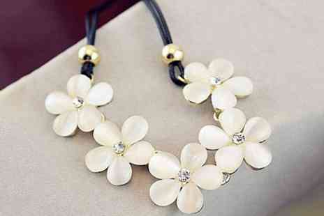 Groupon Goods Global GmbH - Statement Flower Choker Necklace - Save 84%