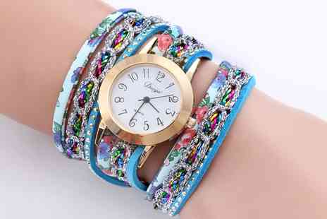 Groupon Goods Global GmbH - Womens Colourful Josie Wrap Watches - Save 68%