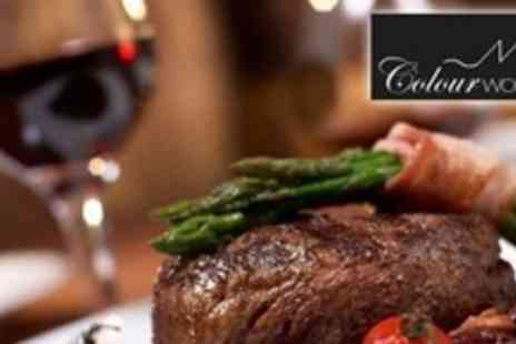 Colourworks Restaurant - Three Courses of Modern European Cuisine For Four With Liqueur Coffee - Save 64%