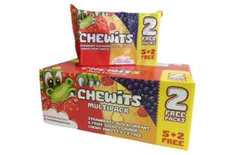 Groupon Goods Global GmbH - 84 Pack of Chewits Strawberry, Blackcurrant and Fruit Salad Chews - Save 38%