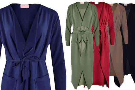 Verso Fashion - Maxi Waterfall Jacket Choose From Five Colours - Save 80%