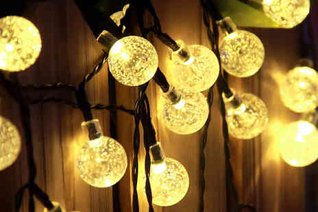 Supreme Direct - Solar Powered Crystal Ball String Lights - Save 77%