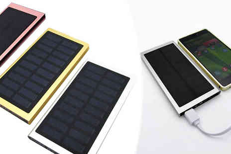 Bazaar me - Portable USB Solar Battery Three Colours - Save 70%