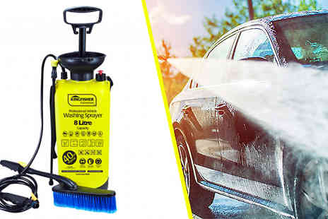 Groundlevel - Professional 8L Portable Pressure Washer - Save 70%