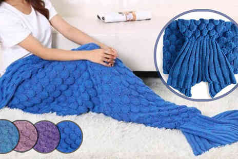Bazaar me - Crocheted Mermaid Tail Blanket Four Colours - Save 77%