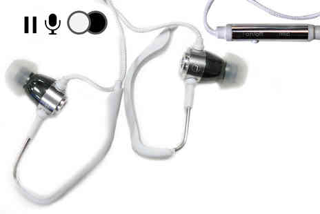 Planet of Accessories - Pair of in ear wraparound earphones choose black or white - Save 74%