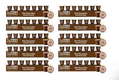 Fine Coffee Club - 100 Nespresso compatible hot chocolate capsules - Save 42%