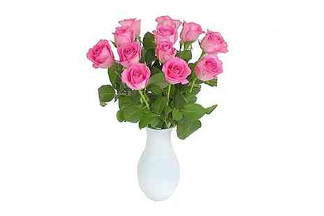 Flowersdelivery4u - 12 Mothers Day Pink Roses With Free Delivery - Save 51%