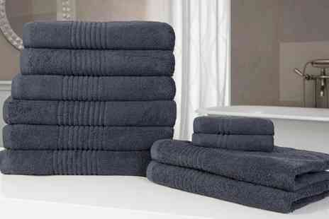 Groupon Goods Global GmbH - 10 Piece 550gsm Towel Bale With Free Delivery - Save 60%