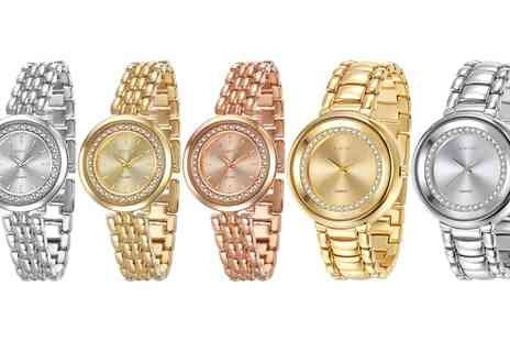 Neverland Sales - NLS Bronte or Lewis Watch with Crystals from Swarovski With Free Delivery - Save 79%