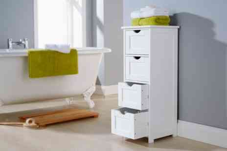Groupon Goods Global GmbH - White Wooden Storage Cabinet With Free Delivery - Save 50%