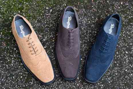 Groupon Goods Global GmbH - Mens Suede Oxford Brogue Shoes - Save 82%