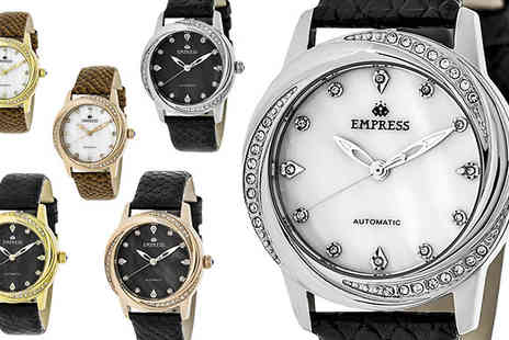 Ideal Deal - Empress Ayala Mother of Pearl Automatic Watch Available in Six Models - Save 89%