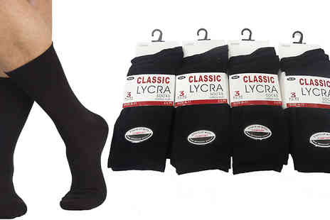 Get The Trend - Mens Plain Black Socks 12, 24 or 36 Pairs - Save 67%
