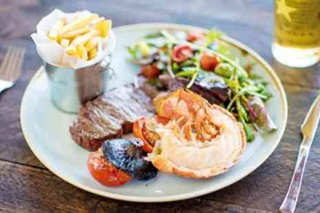 Beachside Grill - Two Course Beachfront Meal with Hot Drink for 2 - Save 53%