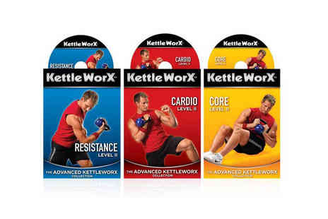 Ckent - Three KettleWorx workout DVDs or upgrade and include a 2kg Kettlebell - Save 75%