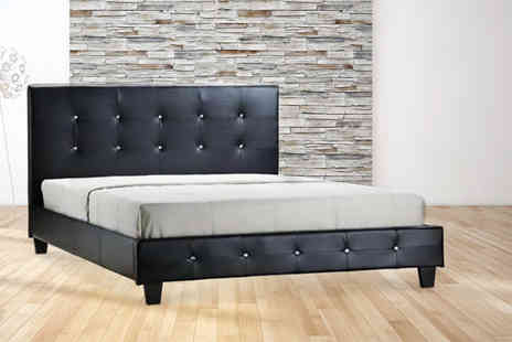 Giomani Designs - Diamante faux leather bed include a mattress with a limited number of the double frame - Save 86%