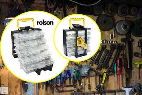 Rolson Tools - 1000 piece tool assortment tote box - Save 58%