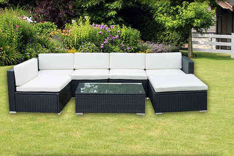 Evre - Seven piece Nevada modular rattan sofa set choose from two colours - Save 70%