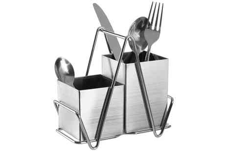 Groupon Goods Global GmbH - Two Compartment Cutlery Caddy - Save 40%