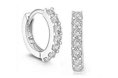Groupon Goods Global GmbH - One or Two Pairs of Hoop Earrings with Crystals from Swarovski - Save 89%