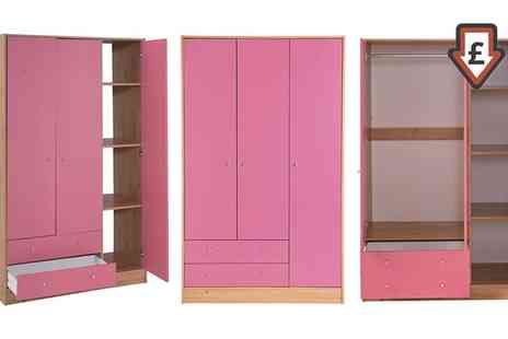 Groupon Goods Global GmbH - Malibu Pink Wardrobe With Free Delivery - Save 31%