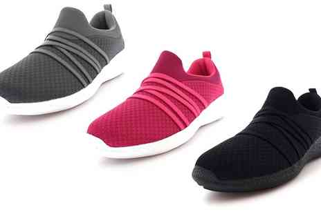 Groupon Goods Global GmbH - Womens Elasticated Slip On Trainers in Choice of Colour - Save 0%
