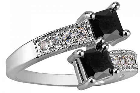 Your Ideal Gift - 1.5ct Brilliant Cut Black Simulated Sapphire Ring - Save 96%