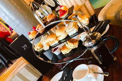 29 Private Members Club - Afternoon tea for two with unlimited tea or coffee include a glass of Prosecco each - Save 52%