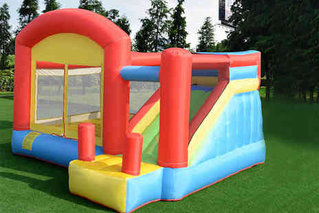 FDS Corporation - Inflatable bouncy castle slide or include the pump - Save 60%