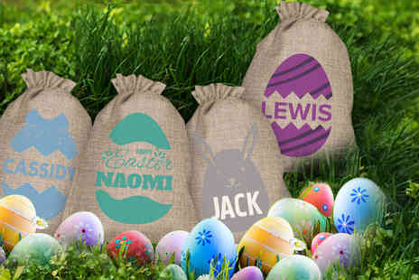 Shop Sharks - Personalised Easter egg sack - Save 63%