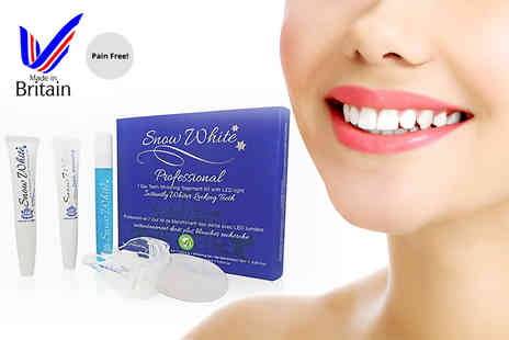 Multi Vend Marketing - Professional seven day pain free teeth whitening kit with LED light - Save 60%