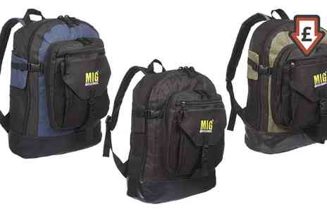 Groupon Goods Global GmbH - One or Two MIG Multi Compartment Backpacks - Save 0%