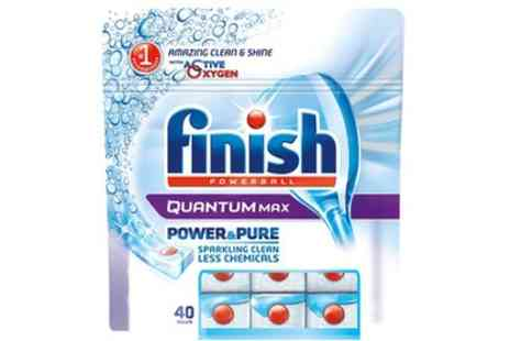 Groupon Goods Global GmbH - 120 or 240 Finish Quantum Max Dishwashing Tablets with Baking Soda - Save 68%