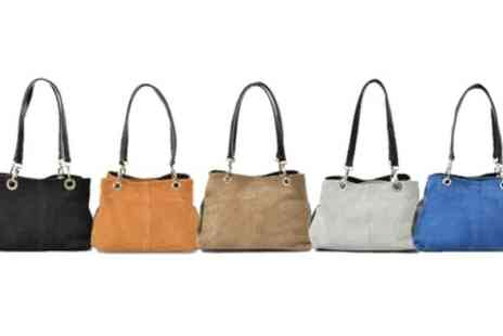 Groupon Goods Global GmbH - Carla Belotti Giselle Nubuck Handbag in Choice of Colour - Save 82%
