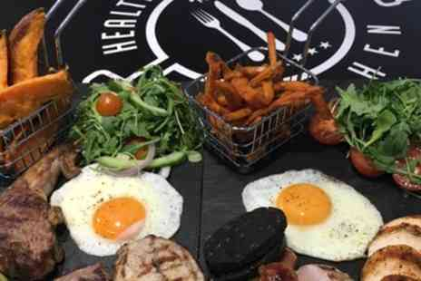 Health & Fitness Kitchen - Meat Feast Mixed Grill Sharing Platter with Two Sides and a Drink Each for Two - Save 50%
