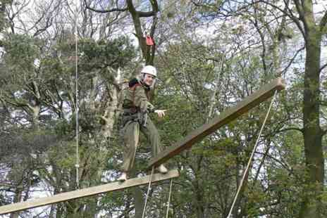 Adrenalin North Yorkshire - High ropes adventure course for one or two - Save 50%