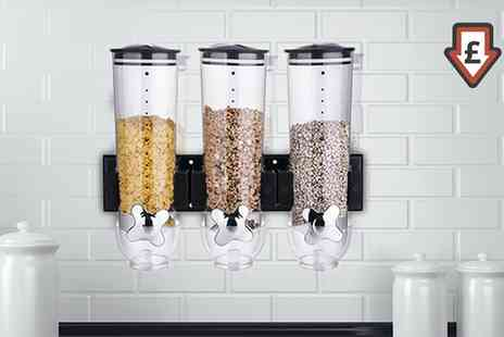 Groupon Goods Global GmbH - Double or Triple Wall Mounted Cereal Dispensers - Save 78%