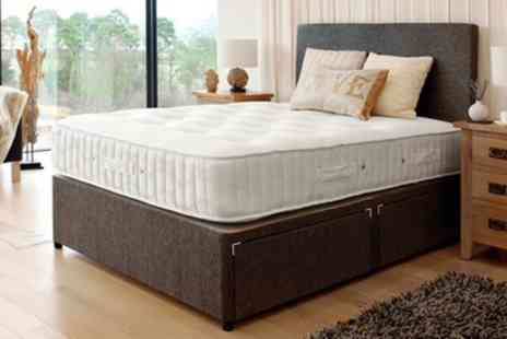 Groupon Goods Global GmbH - Luxury Lambswool Memory Foam and Ortho Bonnell Mattress With Free Delivery - Save 76%
