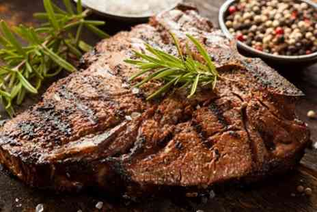 The Marquis - 8oz Steak Meal for Two or Four - Save 45%