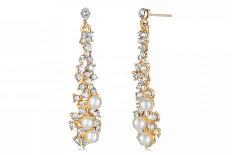 Your Ideal Gift - Faux Pearl Chandelier Earrings - Save 85%